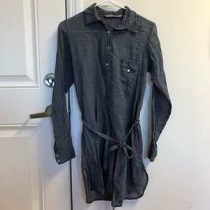 Zara sheer shirt dress
